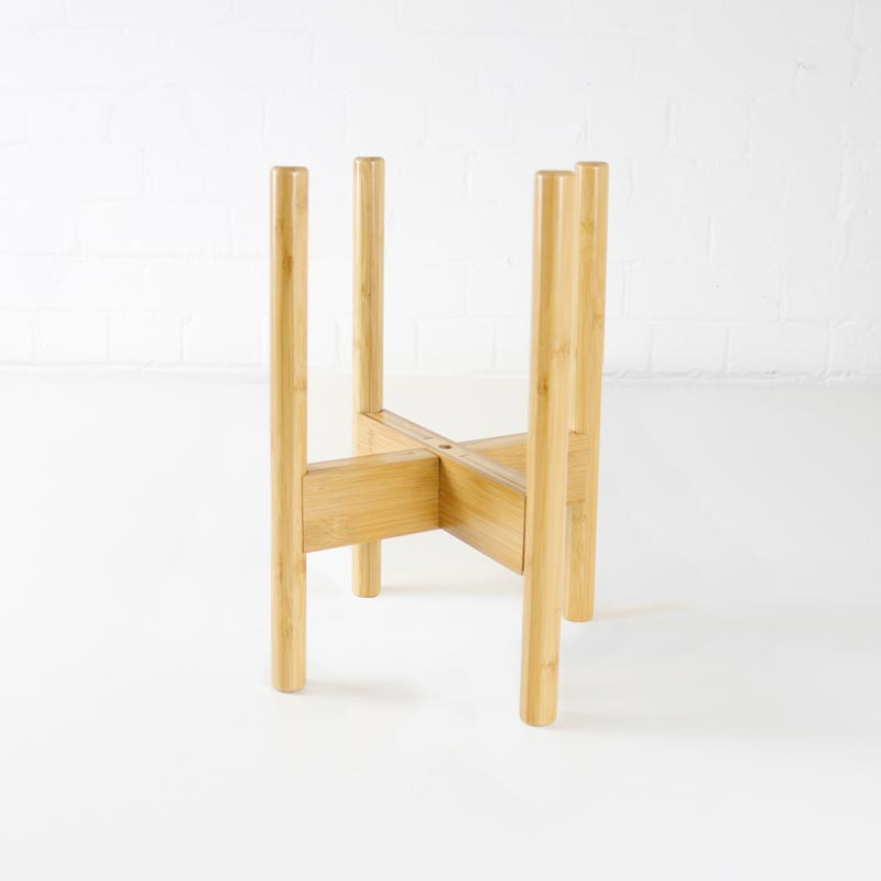 wooden plant pot stand