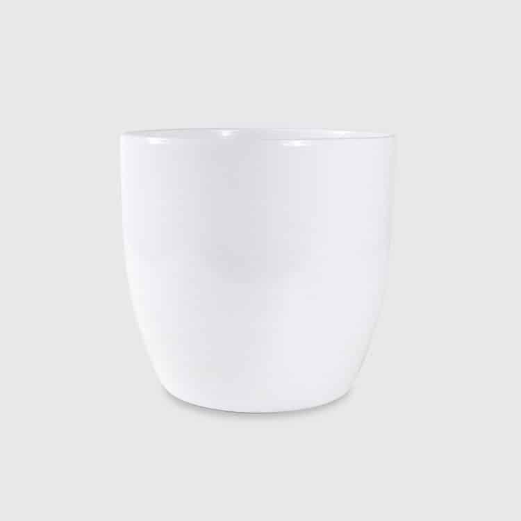 Classic Ceramic Pot 21cm black indoor glossy