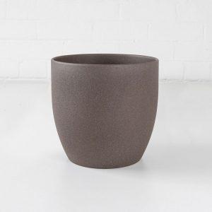 brown medium stone ceramic plant pot