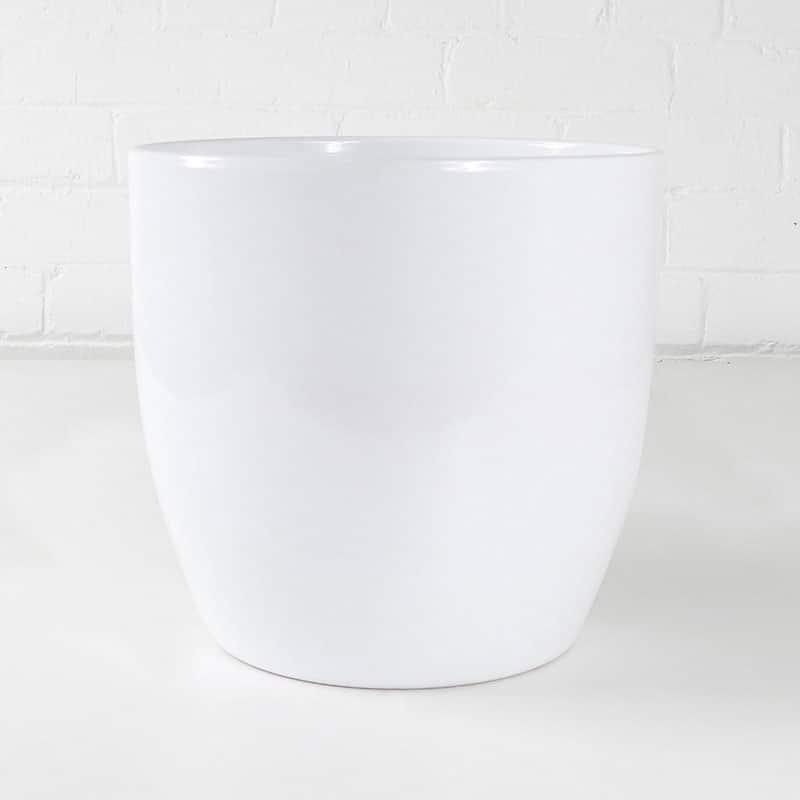 white ceramic plant pot