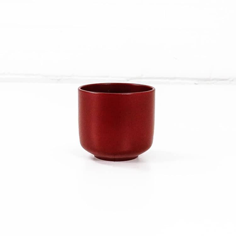 bari ceramic plant pot red