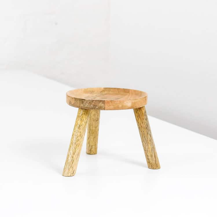 small wooden plant pot stand