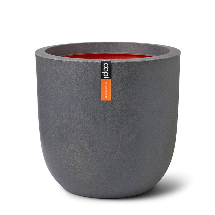 55cm Capi Planter Ball Smooth Light Grey