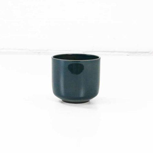 bari ceramic plant pot green blue