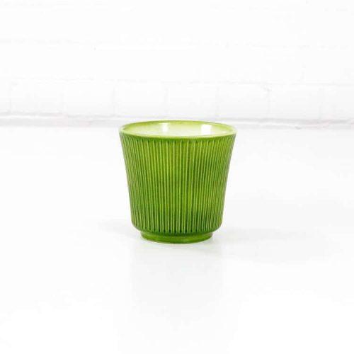 delphi ceramic plant pot green